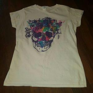 Colorful skull tee